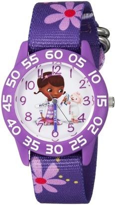 Disney Girls Doc McStuffins Analog-Quartz Watch with Nylon Strap