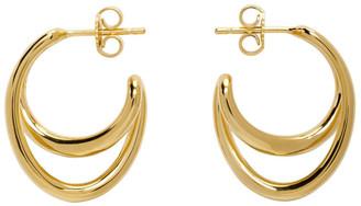 Charlotte Chesnais Gold Mini Initial Hoop Earrings