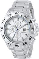 August Steiner Men's AS8071SS Swiss Multi-Function -Tone Dial Bracelet Watch