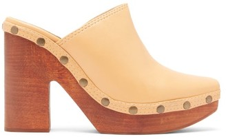 Jacquemus Sabots Leather Clog Mules - Womens - Cream