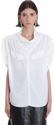 Isabel Marant Narlamea Blouse In White Wool And Polyester