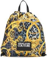 Versace baroque-print drawstring backpack
