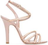 RED Valentino glitter sandals