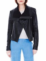 Veda Max Classic Bubble Leather Jacket Black