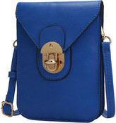 Mkf Collection By Mia K. MKF Collection by Mia K. Women's Crossbodies - Royal Blue Turn-Lock Kianna Cell Phone Crossbody Bag
