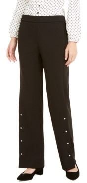 Alfani Riveted Wide-Leg Pants, Created for Macy's