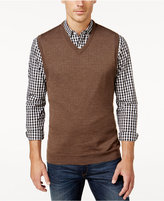 Club Room Men's Big and Tall VNeck Merino Blend Sweater Vest, Only at Macy's