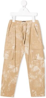 Il Gufo Palm-Print Cargo Trousers