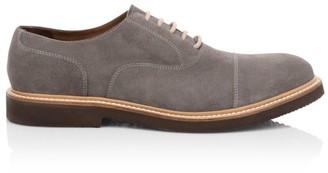 Eleventy Cap-Toe Suede Oxford Shoes
