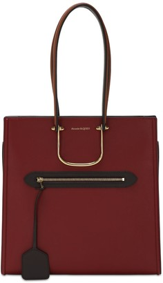 Alexander McQueen The Tall Story Two Tone Leather Tote Bag