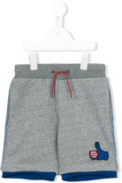 Little Marc Jacobs thumbs up patch shorts - kids - Cotton - 8 yrs
