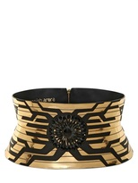 Manish Arora 140mm Laser Cut Leather High Waist Belt