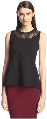 Society New York Women's Sleeveless Sequin Trim Top