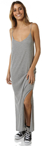 Rusty Blank Rib Midi Womens Dress Grey
