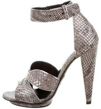Roberto Cavalli Snakeskin Platform Sandals w/ Tags