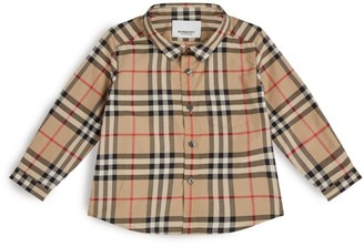 Burberry Kids Cotton Check Shirt