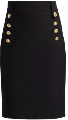 Derek Lam 10 Crosby Lenox Button Pencil Skirt