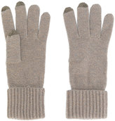 N.Peal Ribbed touch screen gloves
