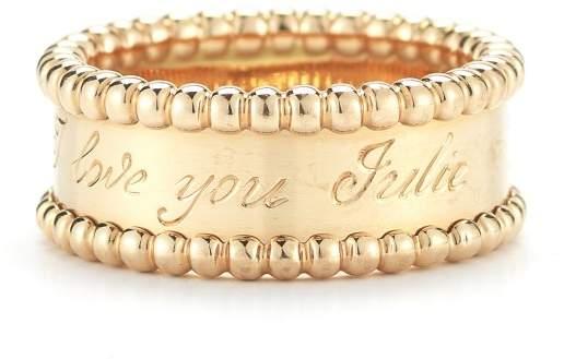 Van Cleef & Arpels 18K Yellow Gold Perlee Ring
