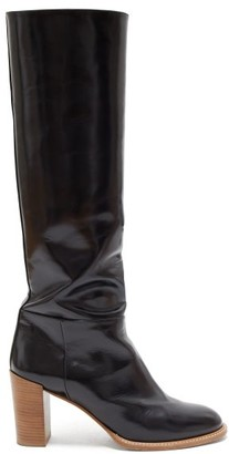 Gabriela Hearst Bocca Knee-high Leather Boots - Womens - Black