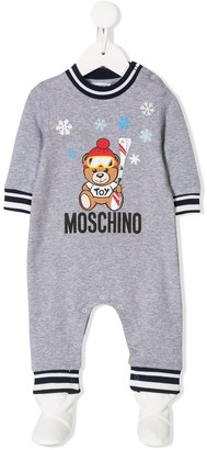 MOSCHINO BAMBINO Teddy Bear print babygrow