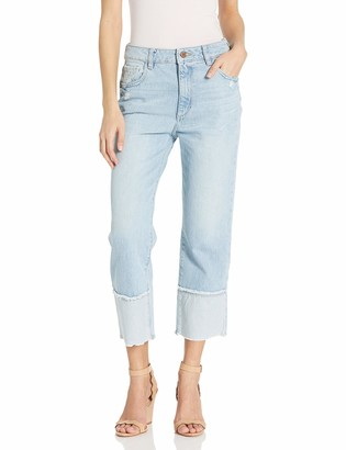 DL1961 Women's Jerry Cropped-High Rise Vintage Straight Jeans