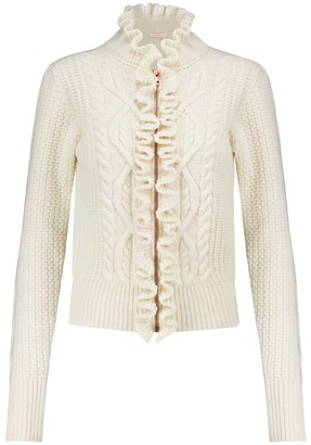 See by Chloe Cable-knit wool-blend cardigan