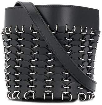 Paco Rabanne metallic embellished small bucket bag