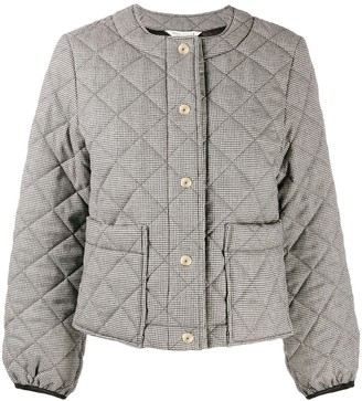 MACKINTOSH KEISS Houndstooth Quilted Wool Jacket | LQ-1003