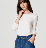LOFT Seamed Shirttail Tee