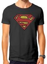 Superman Men's Vintage Logo T-Shirt,Small