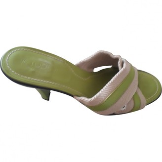Tod's Green Leather Sandals