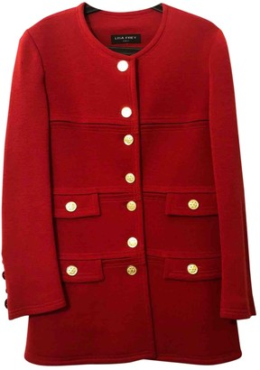 Lisa Perry Red Wool Coat for Women