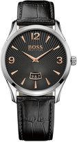 BOSS Men's Commander Black Leather Strap Watch 41mm 1513425