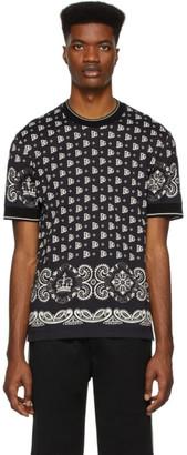 Dolce & Gabbana Black and White Bandana T-Shirt