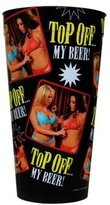 Grindstore Top Off My Beer Black Plastic Pint Glass