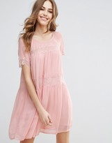 French Connection Rosie Drape Tiered Dress