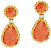 Elizabeth Taylor The Coral Drop Earrings