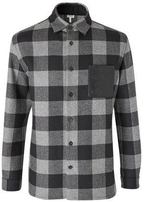 Loewe Check Overshirt coat