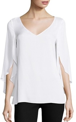 Milly Stretch-Silk Crepe Top