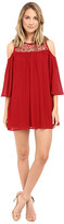 Brigitte Bailey Crochet Cold Shoulder Dress
