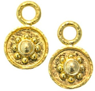 Elizabeth Locke Gold Hammered 19K Yellow Gold Daisy Earring Charms
