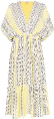 Lemlem Amira plunge neck tiered dress