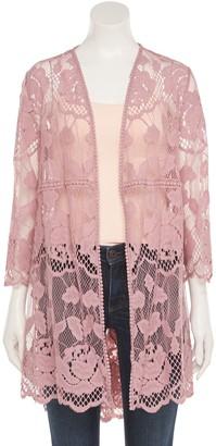 Women's Sheer Lace Kimono