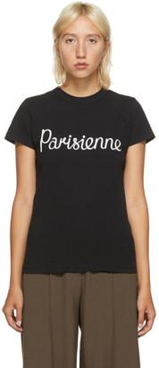 MAISON KITSUNÉ Black Parisienne T-Shirt