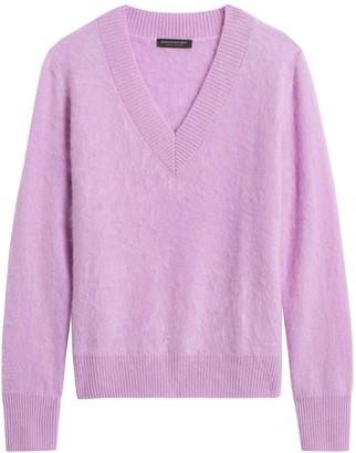 Banana Republic Brushed Cashmere V-Neck Sweater