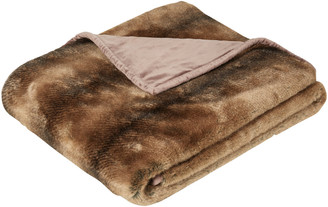OKA Faux Fur Throw - Grizzly Bear
