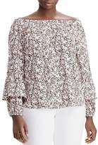 Lauren Ralph Lauren Plus Convertible Off-the-Shoulder Floral Print Top