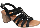 Eric Michael Black Leather Misty Sandal