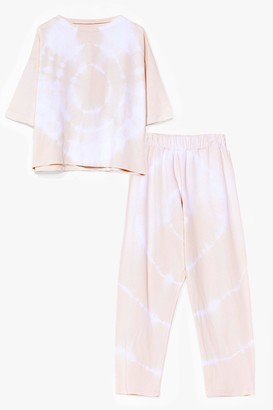 Nasty Gal Womens Nights Like This Tie Dye Tee and Jogger Set - White - 4